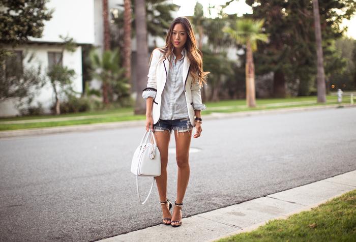 Nefertari: Trend da semana: short jeans mais blazer.