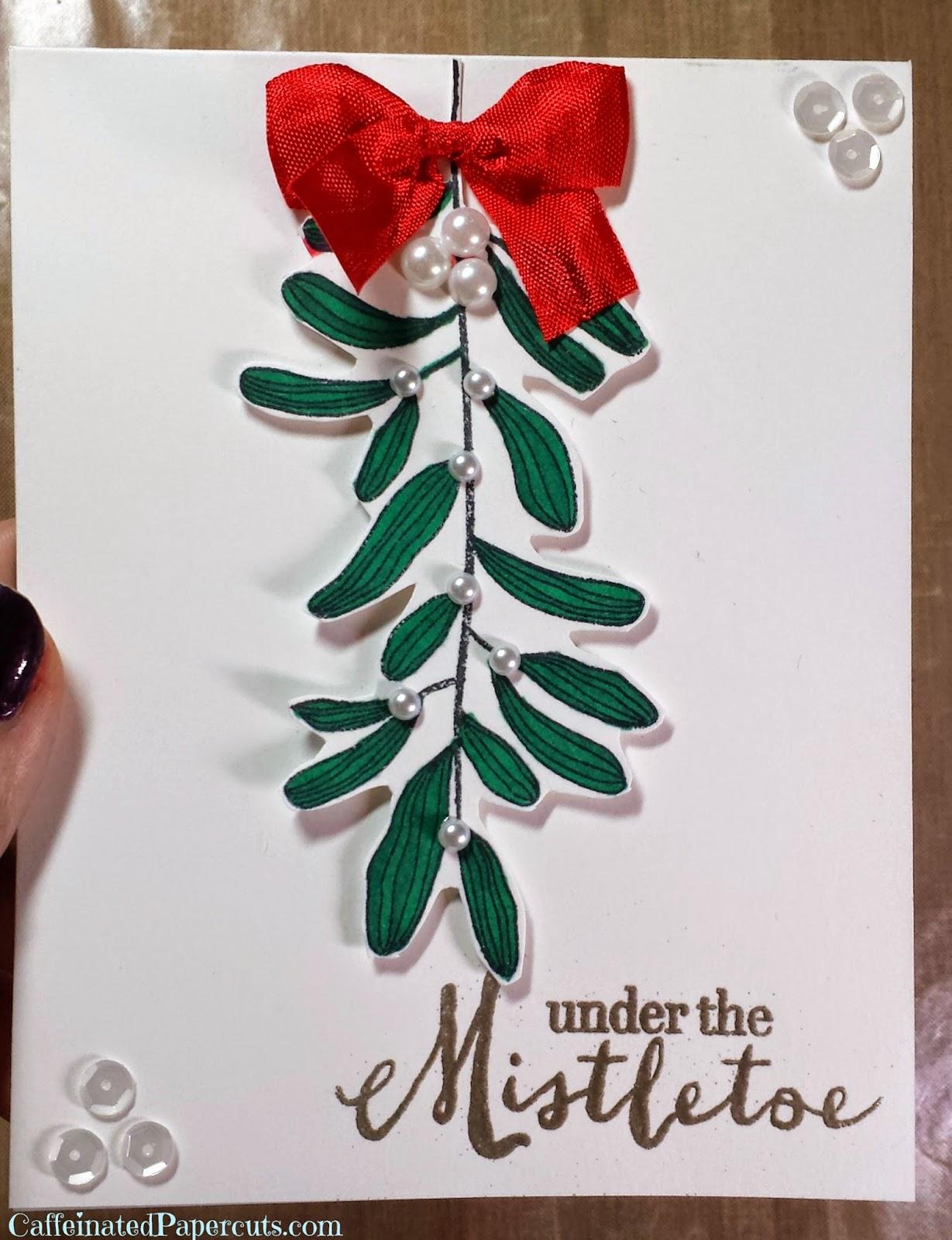 under the mistletoe hero arts by caffeinated papercuts