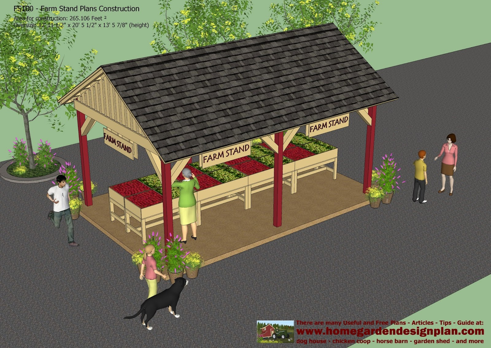 Home garden plans fs100 farm stand plans construction Farm plan