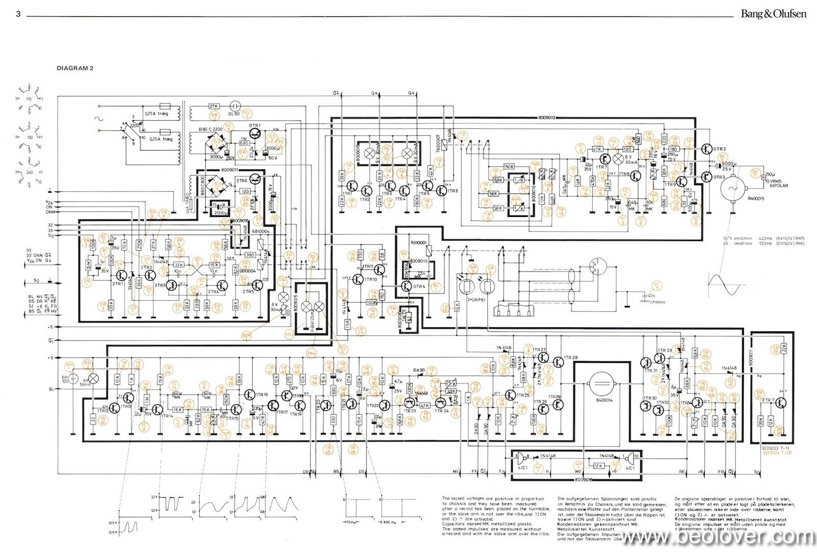Beolover  Beogram 4000  Alternate  U0026quot Circuit Diagram 2 U0026quot  With
