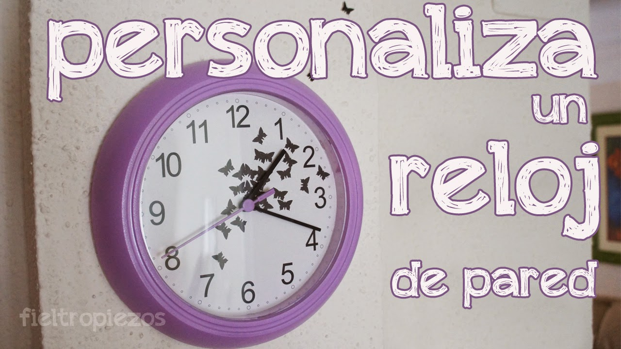 personalizar un reloj de pared