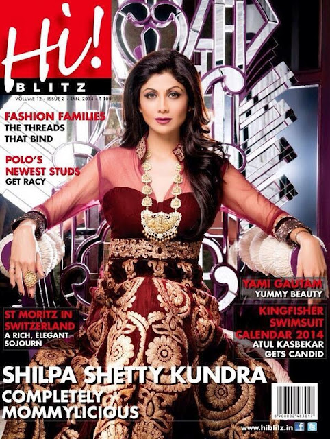 Shilpa Shetty Kundra Photoshoot on the cover of Hi Blitz