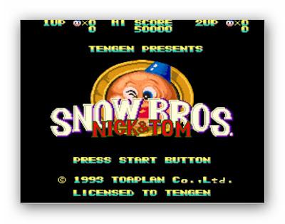 Snow Bros Nick & Tom Atari Oyunu (Nostalji)