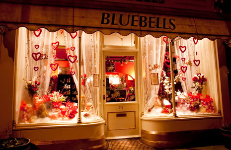 valentines day visual merchandising window display