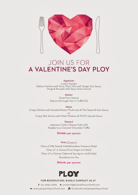 Valentine Day Promotion At Ploy Malaysian Foodie