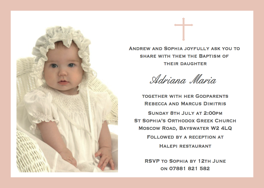Invitation For Baptism is one of our best ideas you might choose for invitation design