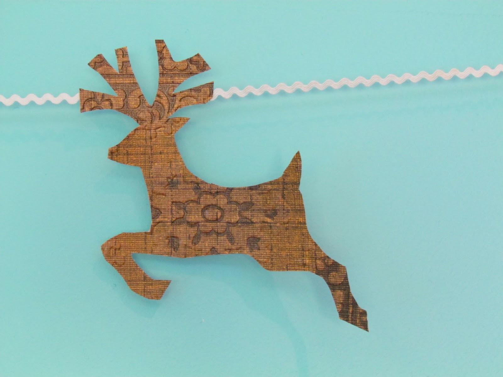 Reindeer Tail Template Photos >> Christmas Reindeer Silhouette ...