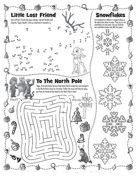 Kids Christmas Activity Pages