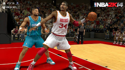 NBA 2K14 Hakeem Olajuwon (Houston Rockets) & Alonzo Mourning (Charlotte Hornets)