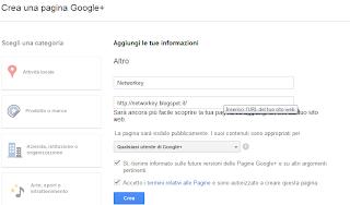 informazioni pagine google+ brand azienda