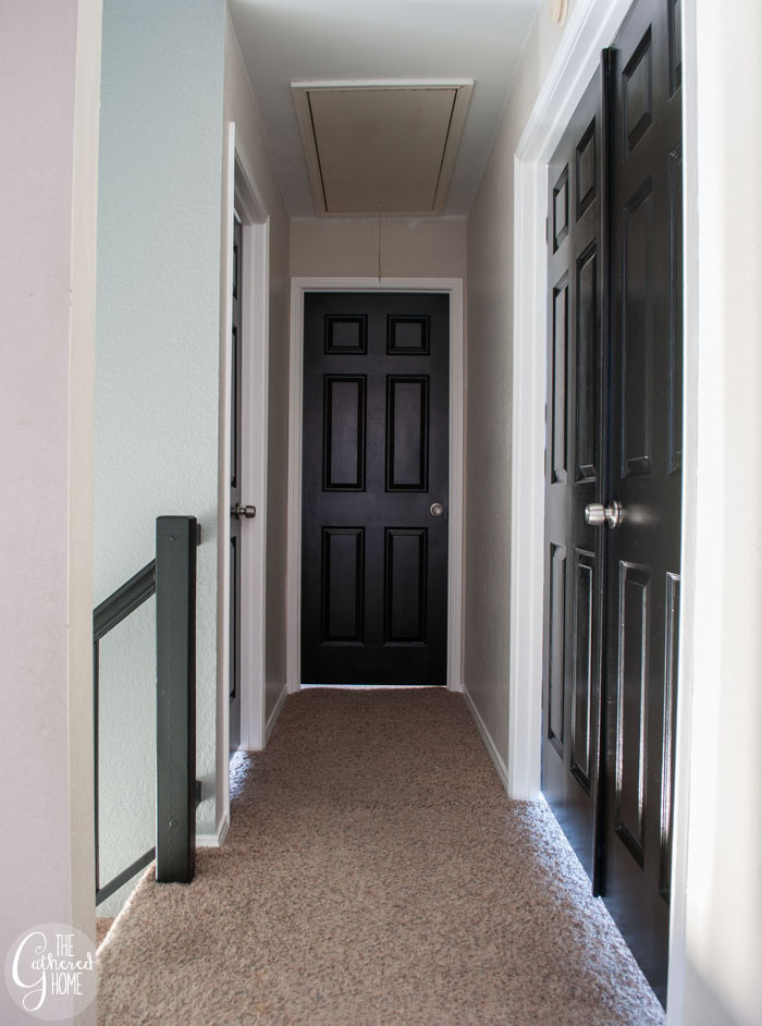 Black interior doors | www.thegatheredhome.com