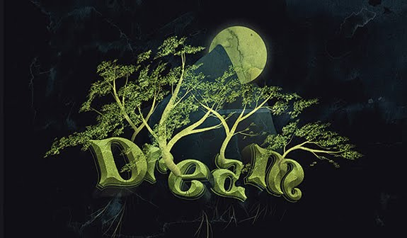 Trees 3D Text Photoshop 30 Striking 3D Text in Photoshop Tutorials