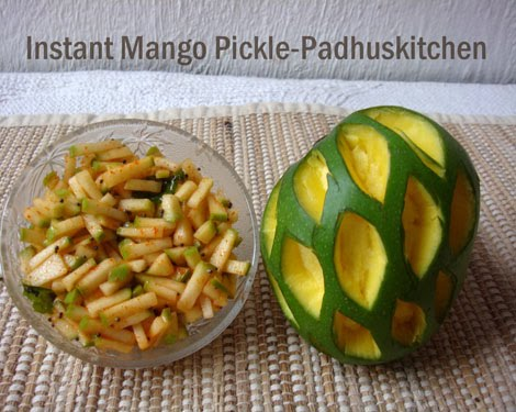 Instant Mango Pickle-Instant Mango Pickle recipe