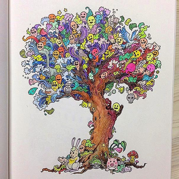 Ingenioso libro para colorear pensado en adultos. | Quiero más diseño