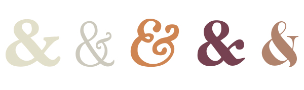 ampersand, design seeds tea tones