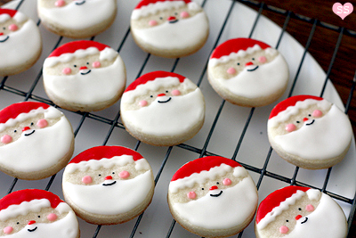 Diamonds for Dessert: Santa Sugar Cookies