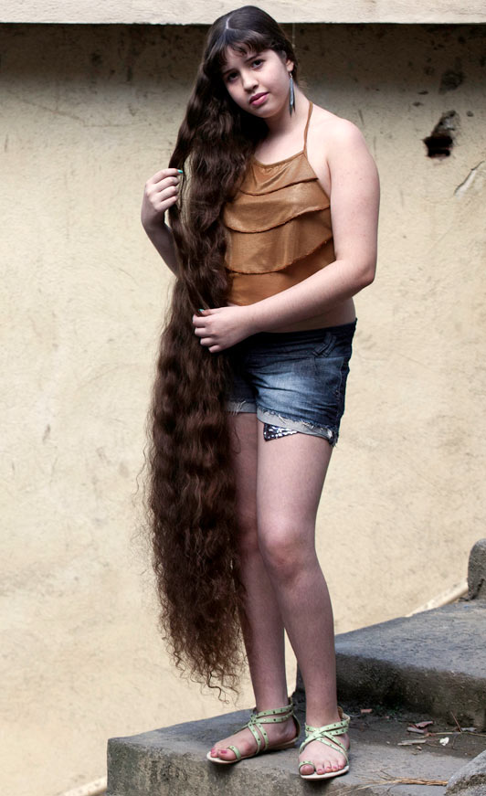 12 Year Old Girl with Long Hair