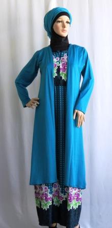 Gamis Jersey Cardigan Panjang Gkm4697 Grosir Baju Muslim