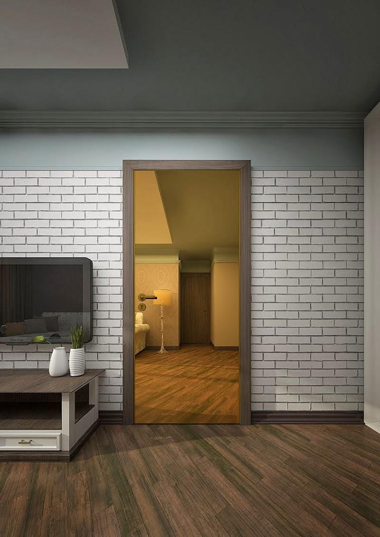 Визуализация двери в интерьере