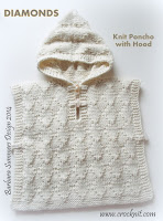 knit patterns, how to knit, poncho with hood, toddler,