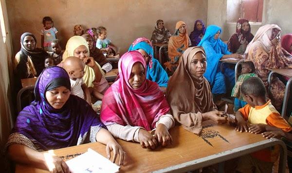 A basic literacy class in Khartoum