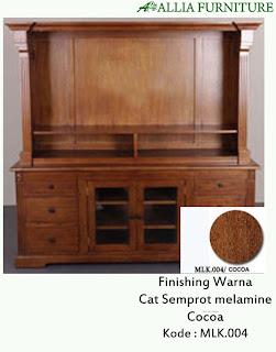 Contoh Furniture Semprot Melamine Cocoa
