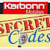 Karbonn All Mobile Models Tips and Trick Codes