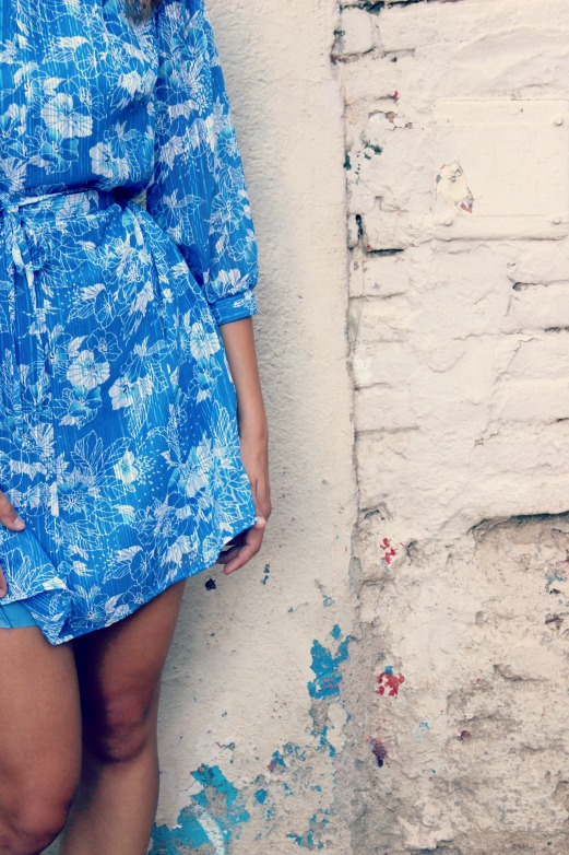 outfit blue dress