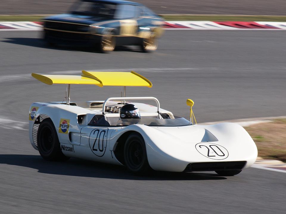 Nissan R381, wyścigowy, sport, japoński samochód, silnik V8, Chevrolet, motoryzacja japońska, racing, JDM, klasyczny, stary, oldschool, nostalgic, classic, rare, 日産, 日本車, クラシックカー, レーシングカー, 自動車競技, こくないせんようモデル