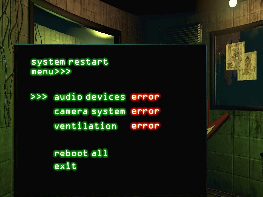 Reboot System FNAF 3