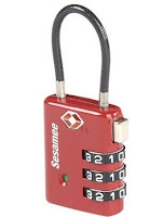 Combination Cable TSA Approved Travel Lock with Indicator