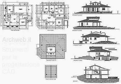 Villa type m diterran en 4 fichier autocad for Progetti di townhouse e planimetrie