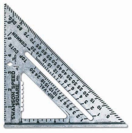 framing square has printed edges that are used to measure up to a level of accuracy of 132 inch it has a diagonal scale too along with a board foot scale