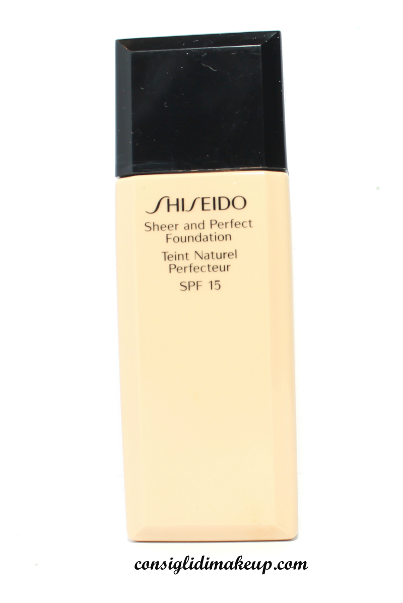 fondotinta sheer and perfect foundation shiseido