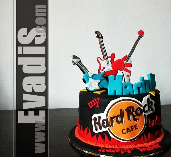 HardRock guitar cake picture in full view