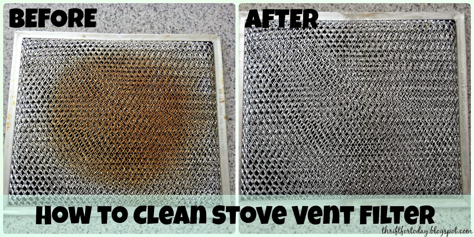 How to clean the stove vent filter
