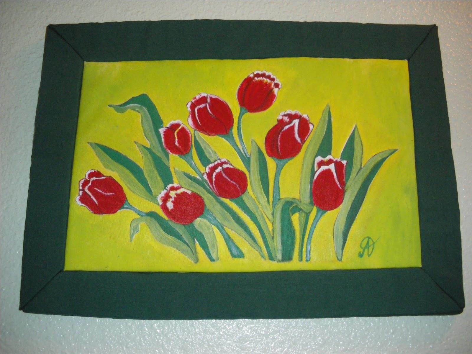 NECESIDAD DE CREAR: Cuadros pintados y enmarcados a mano.