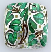 Enameling test 2B on sterling silver metal clay