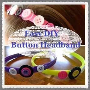 DIY Button Headband craft