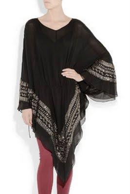 Overcharge embellished silk-chiffon tunic