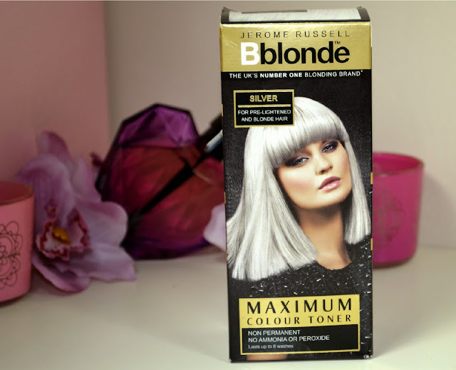 silver - silver hair - silver hair colour - silver hair dye - Blonde hair toner - Silver toner - Results - non permanent hair dye - maximum colour toner - hair products - review - Jerome Russel - hair dye - hair colour