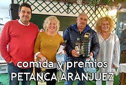 Comida y premios del Club Petanca Aranjuez