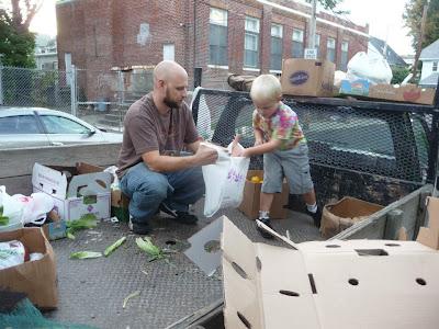 son+helping+create+fair+foods+bags - Fair Foods Volunteer: Kindness Matters