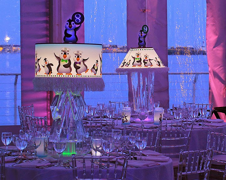 Light up custom centerpiece