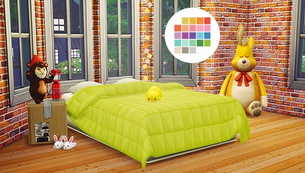 My Sims 4 Blog Jonesi Blankets In 25 Colors By