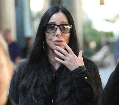 Paparazzi shot of Cher in January 2012