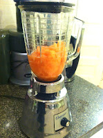 cantaloupe in blender