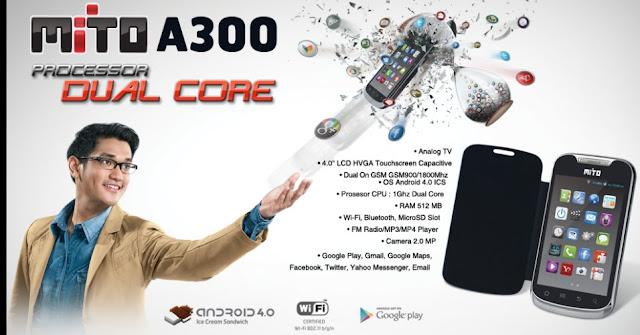 spesifikasi dan harga mito A300