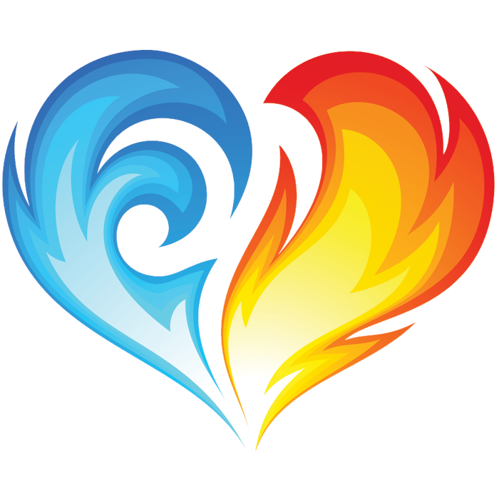 fire and ice heart symbols   emoticons double heart clipart double heart clip art png