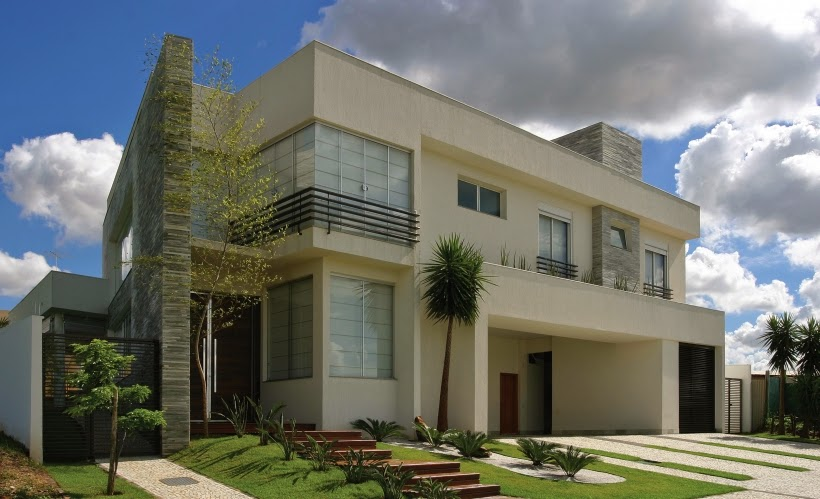 Telhado embutido on pinterest fachadas de casas modelo for Modelos de casas fachadas fotos